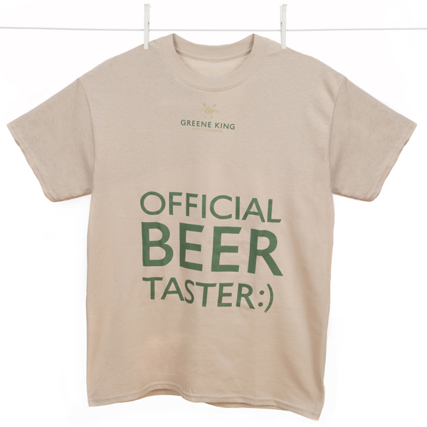 Beer Taster T Shirt - Stone - Medium