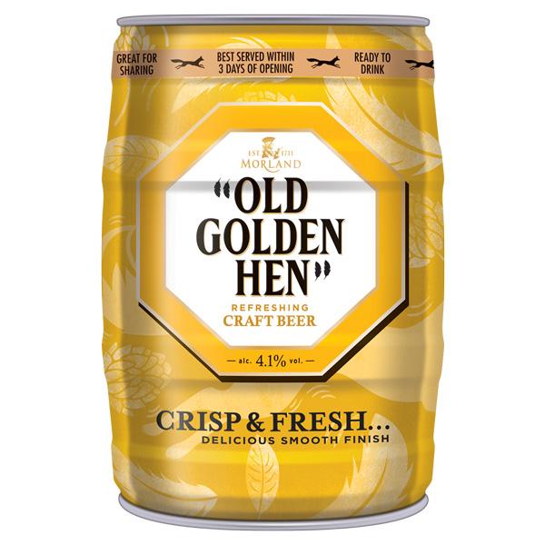 """""""Old Golden Hen"""" Mini Keg"""