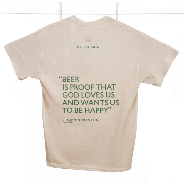 Beer is proof … T Shirt - Stone - XXL