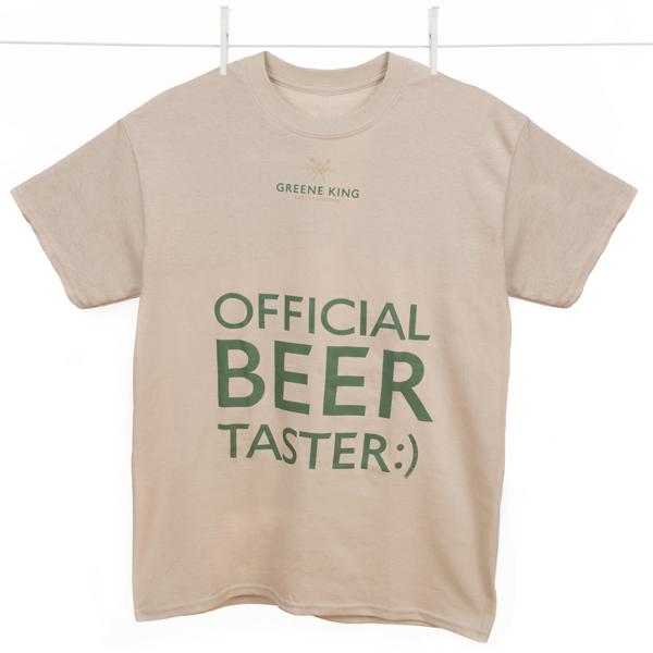 Beer Taster T Shirt - Stone - Large