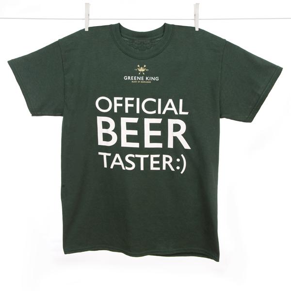 Beer Taster T Shirt - Green - Medium