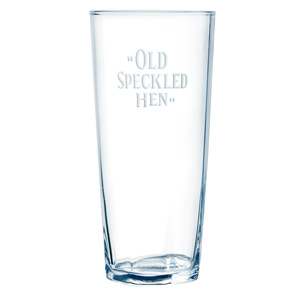 """""""Old Speckled Hen"""" Pint Glass"""
